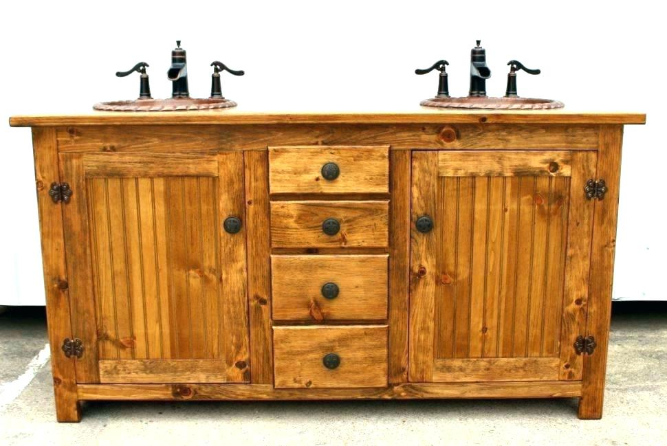 Image of: Rustic Bathroom Vanities Menards
