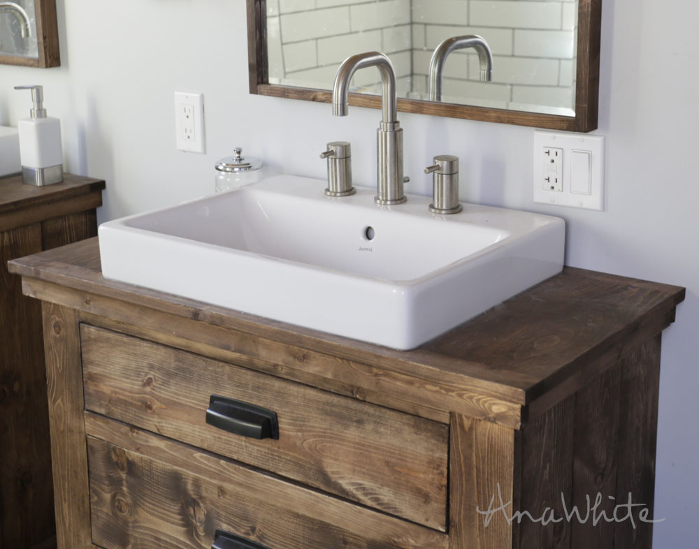 Image of: Rustic Bathroom Vanities and Sinks