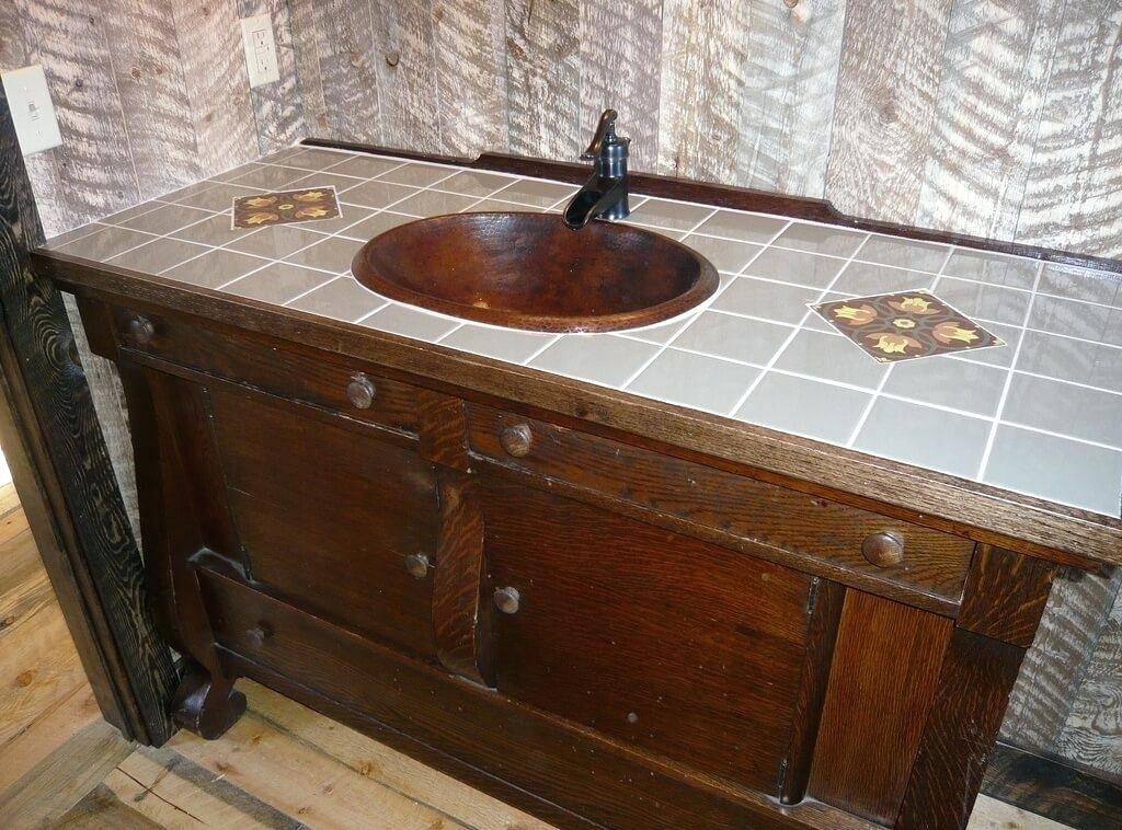 Image of: Rustic Bathroom Vanities for Sale