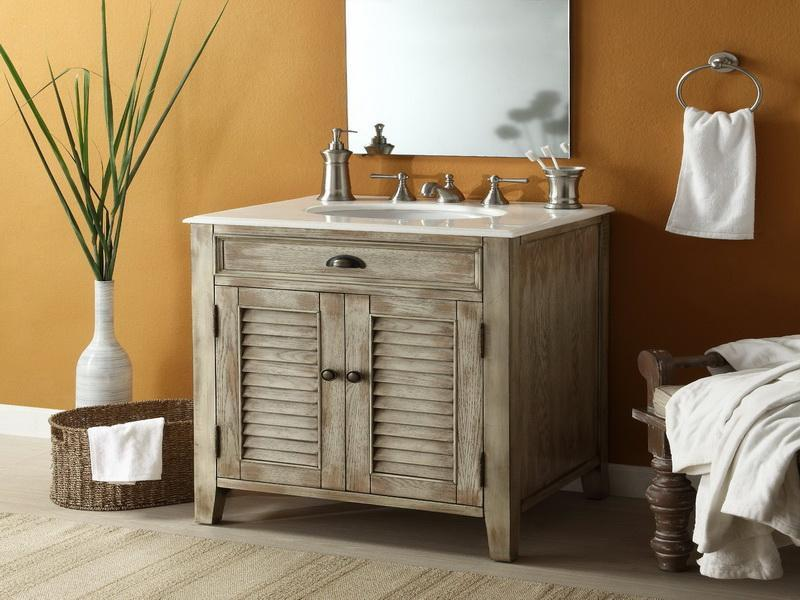 Image of: Rustic Bathroom Vanities with Vessel Sinks