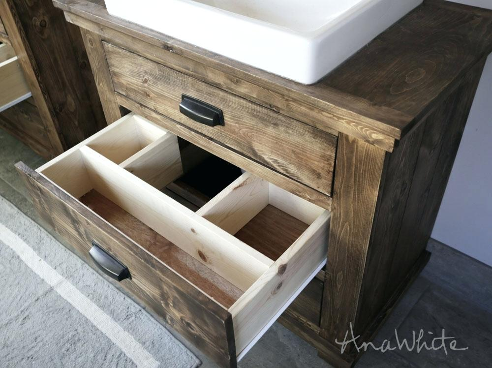 Image of: Rustic Bathroom Vanities without Tops