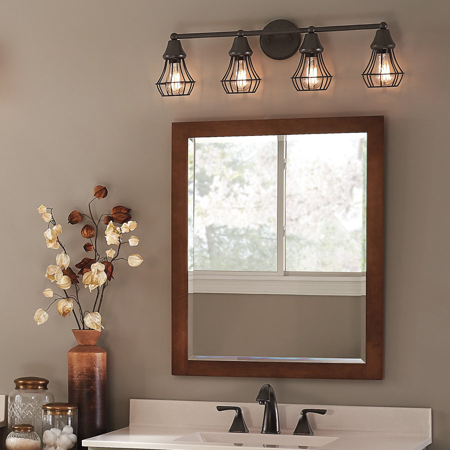 Picture of: Rustic Bathroom Vanity Light Fixtures
