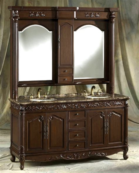 Image of: Rustic Double Vanity Mirror