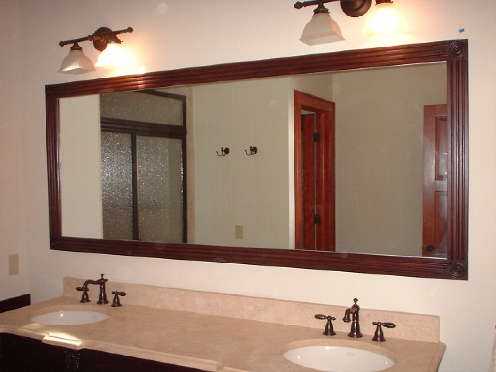 Image of: Simple Double Vanity Mirror
