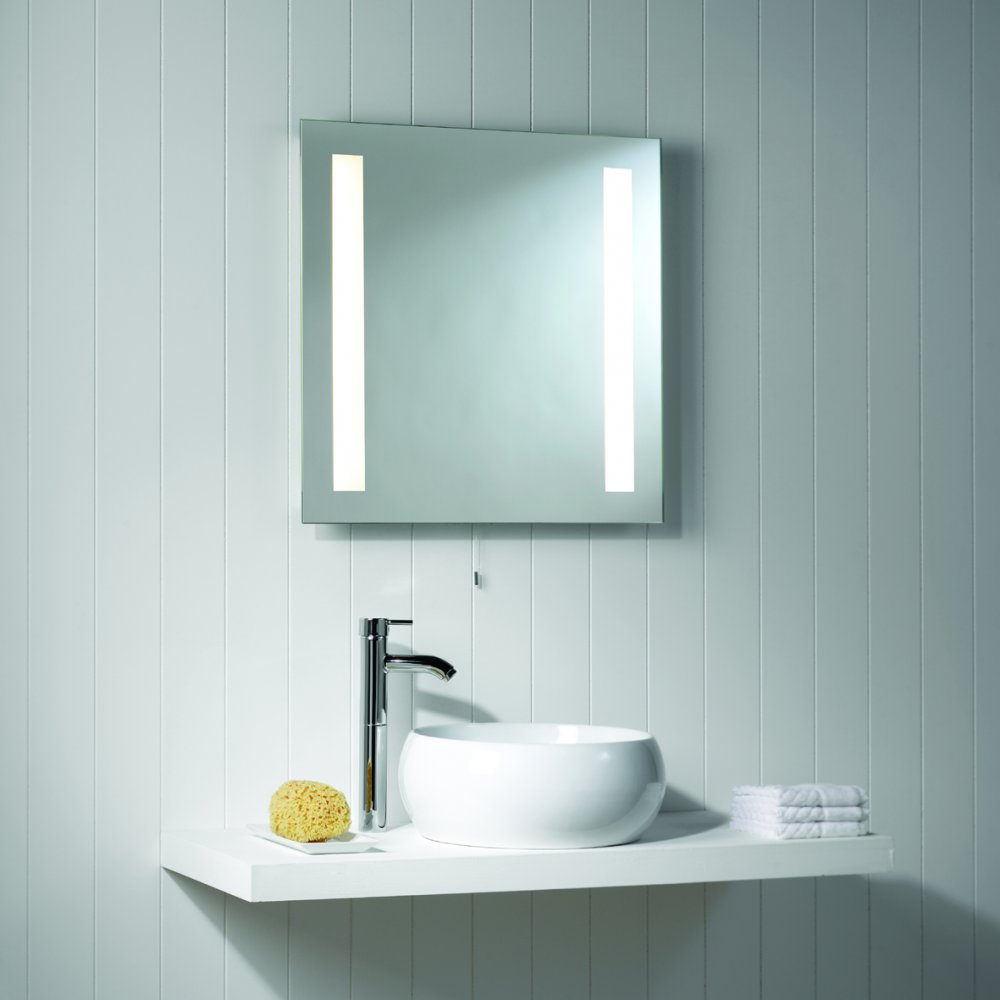 Picture of: Simple Vanity Set With Lights