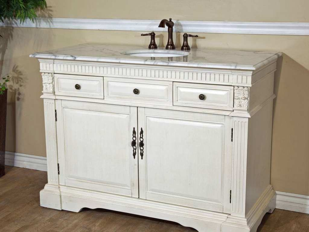 Image of: Single White Double Vanity