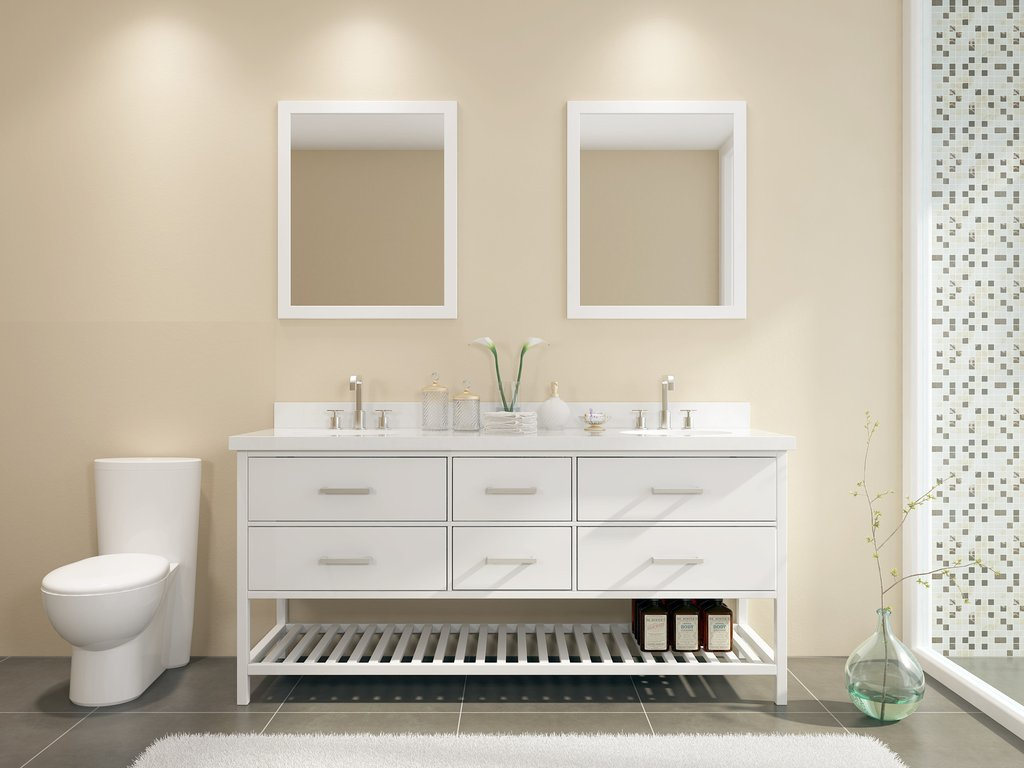 Image of: Sink White Double Vanity