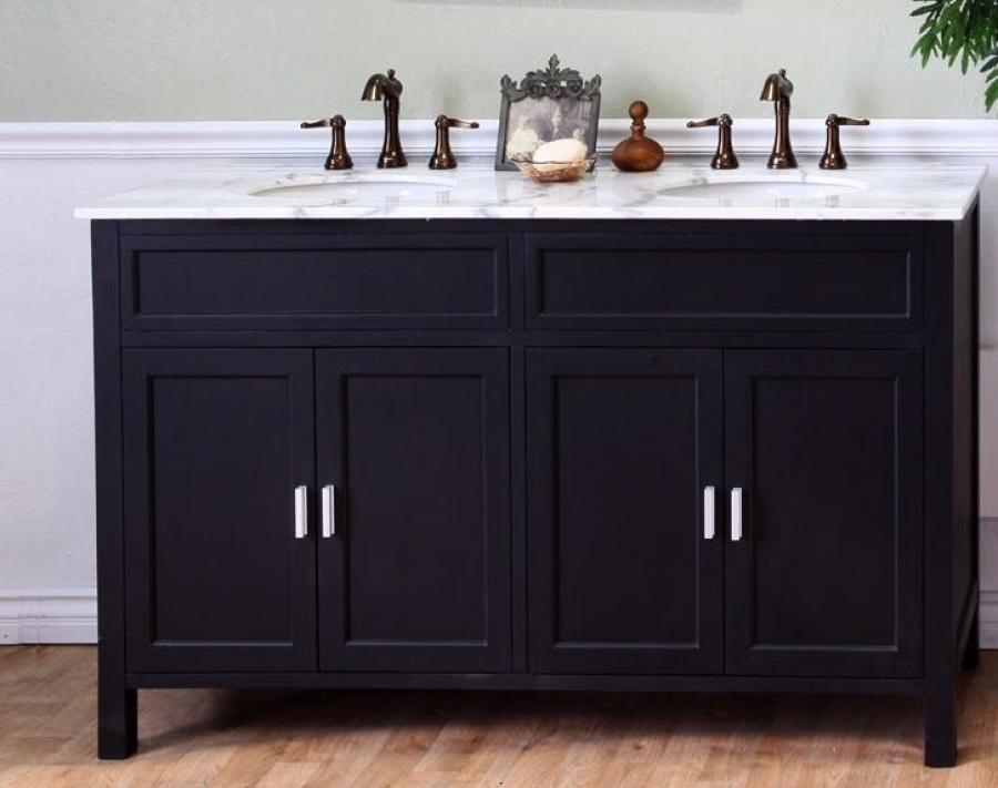 Image of: Small Double Sink Vanity Cons