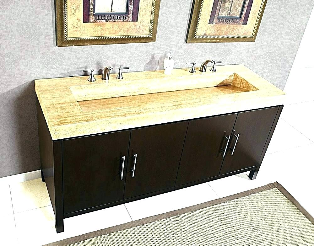 Image of: Small Double Sink Vanity Top
