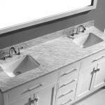 Small Double Vanity Marble Top