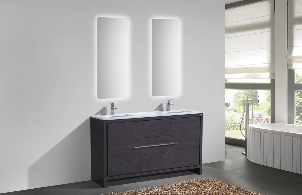 Image of: Small Double Vanity Sinks