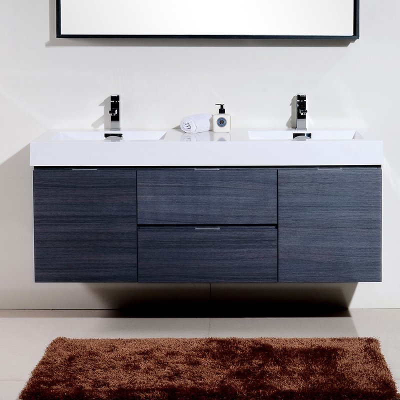 Image of: Small Modern Bathroom Vanities