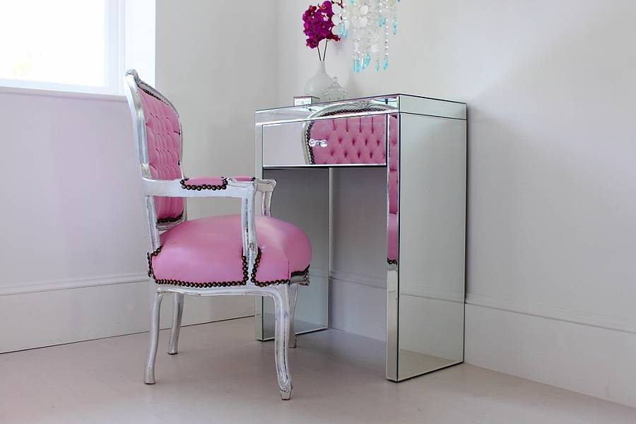 Picture of: Small Vanity Desk with Mirror