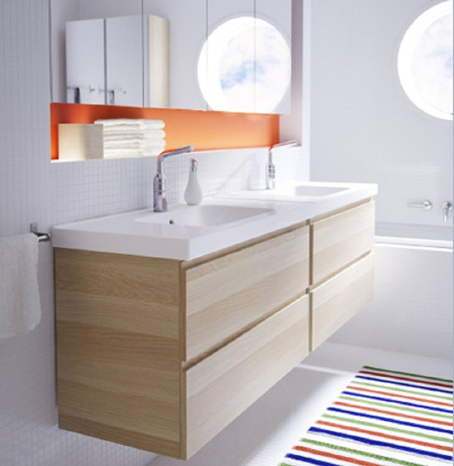 Image of: Solid 48 Double Vanity