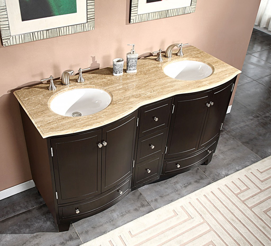 Picture of: Stylish 48 Inch Double Sink Vanity