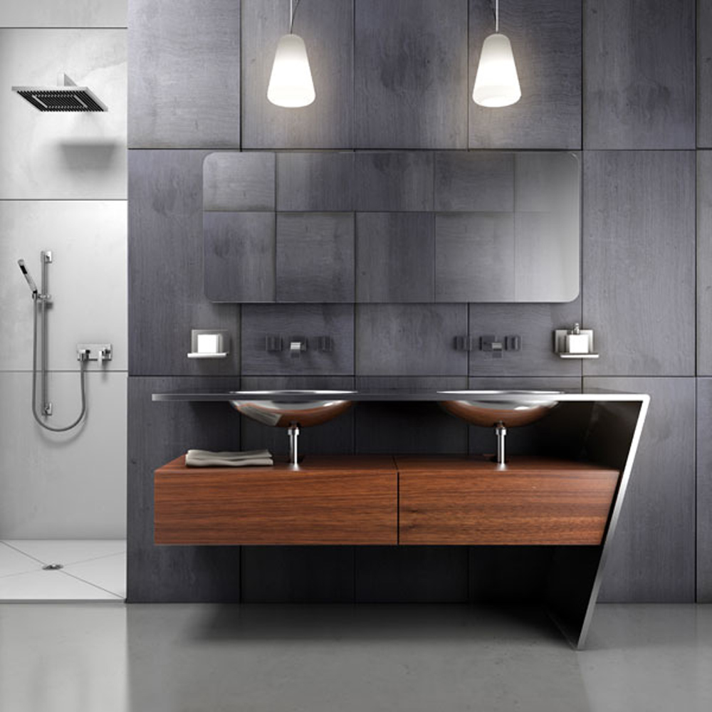 Image of: Stylish Modern Bathroom Vanities