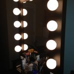 Unusual Hollywood Vanity Mirror With Lights