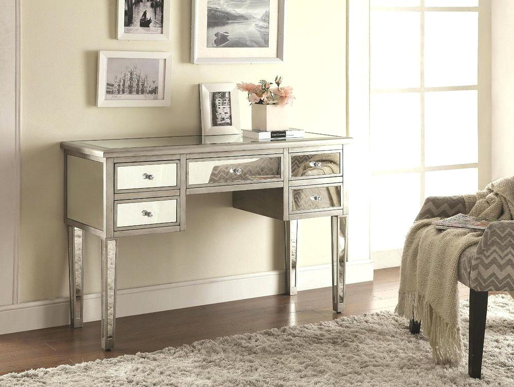 Picture of: Vanity Desk with Mirror Plan