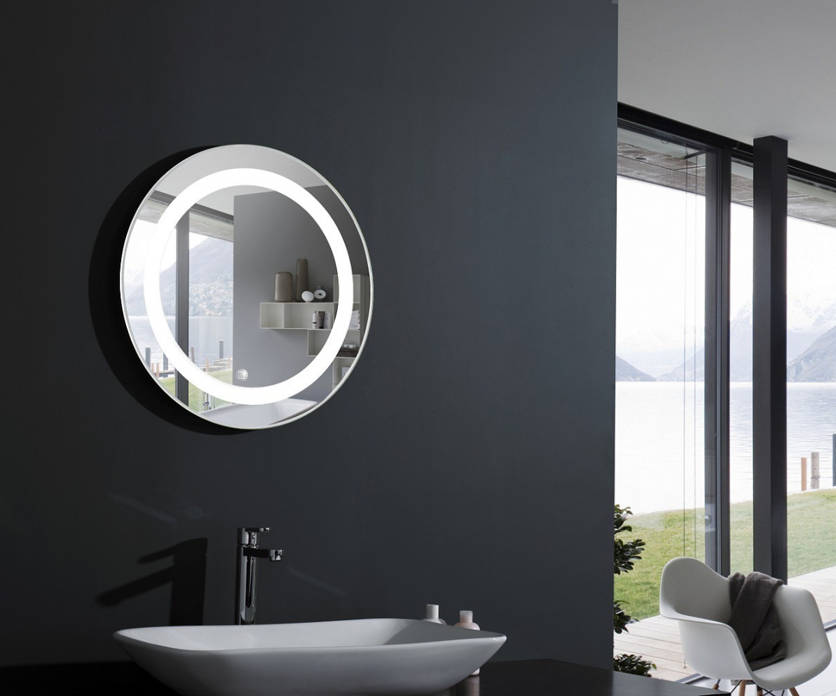 Picture of: Vanity Mirror With Led Lights Round
