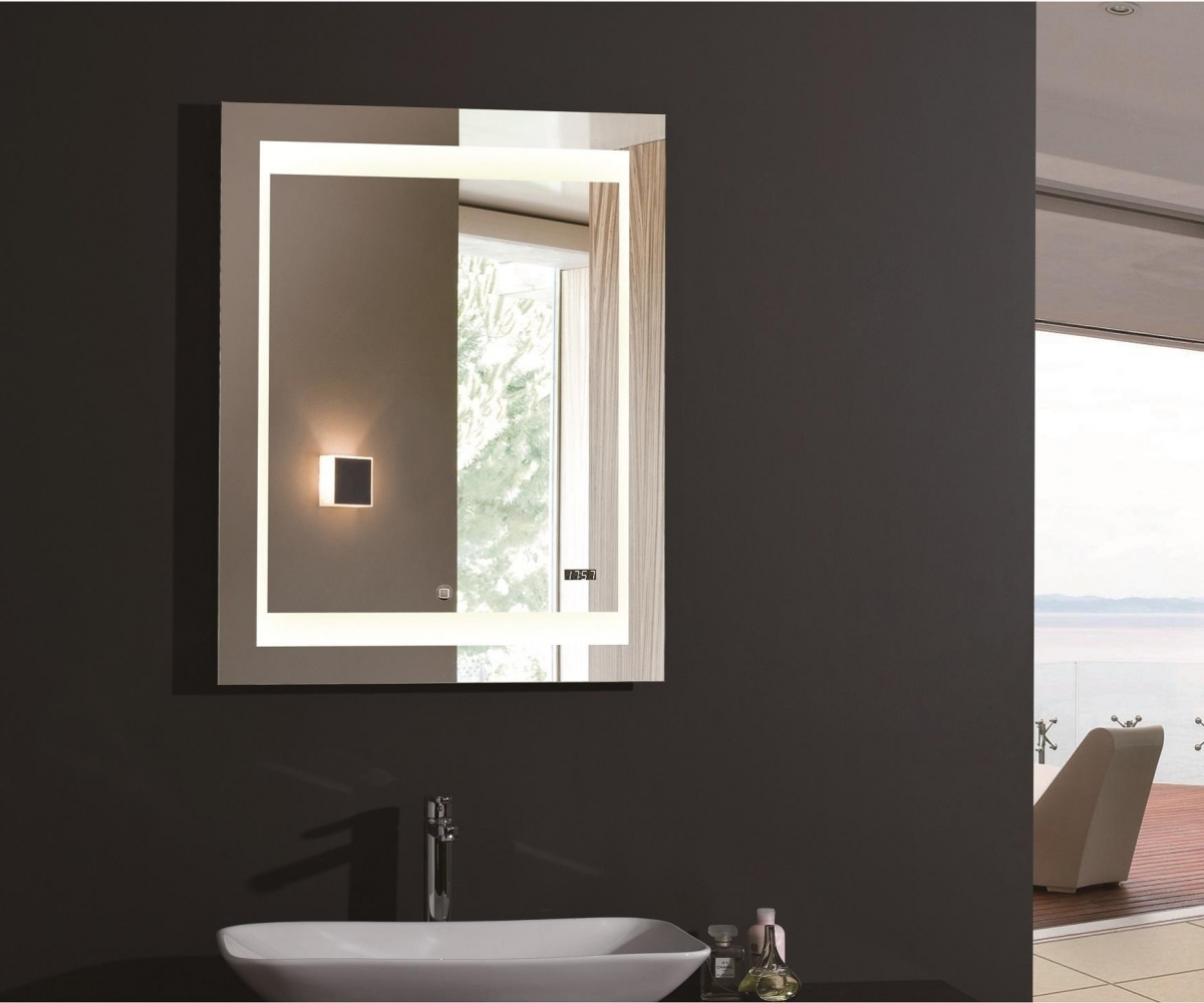 Image of: Vanity Mirror With Led Lights Small