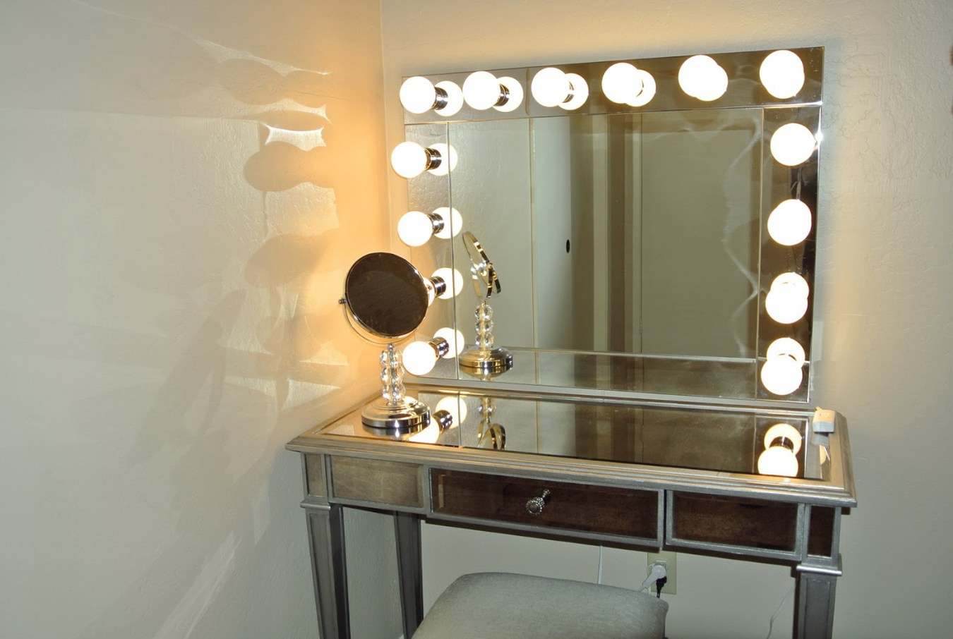 Picture of: Vanity-Set-With-Lighted-Mirror-Bathroom-Cabinet