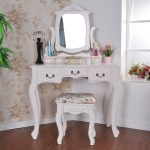 Vanity Table With Lighted Mirror Stool