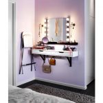 Vanity Table With Lighted Mirror Wall