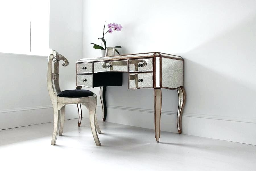 Vanity Table With Mirror And Chair