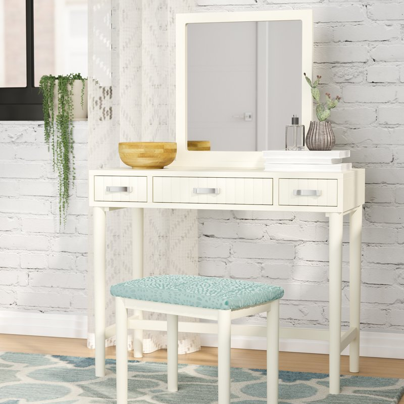 Picture of: Vanity with Mirror Ikea