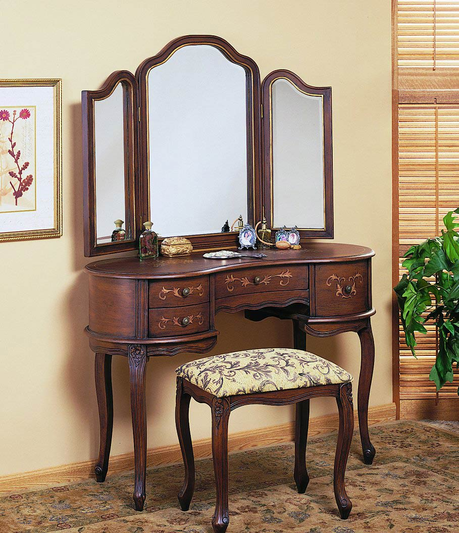 Picture of: Vanity with Mirror Oval
