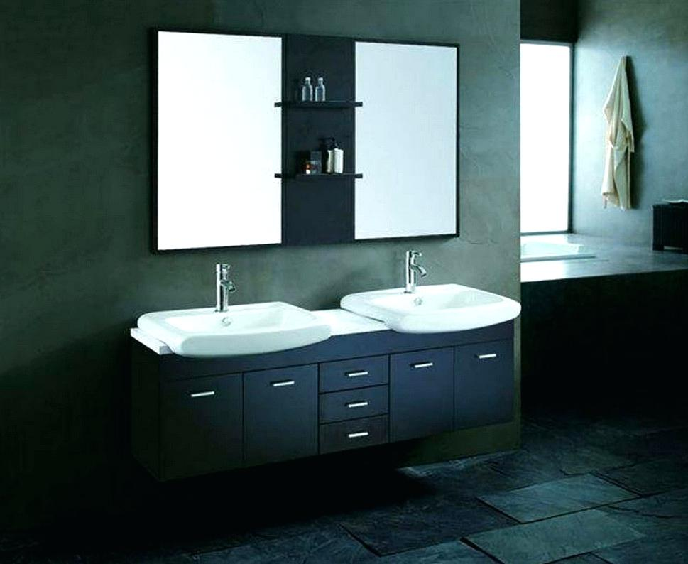 Image of: Wall Mount Small Double Sink Vanity