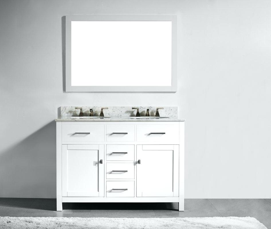 White 48 Inch Double Sink Vanity