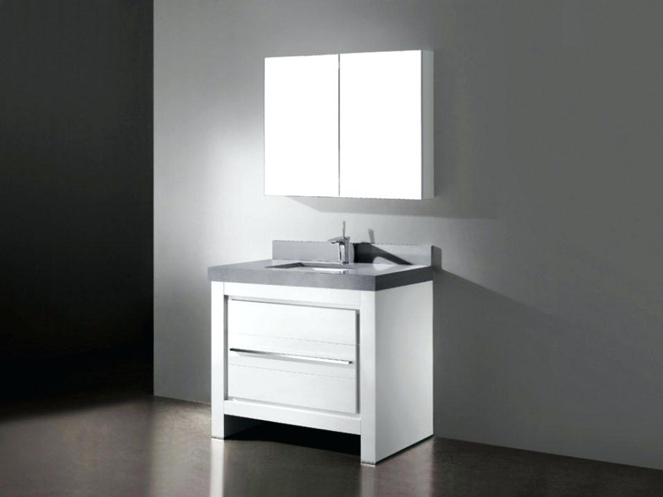 Image of: White Bathroom Vanity 30 Inch