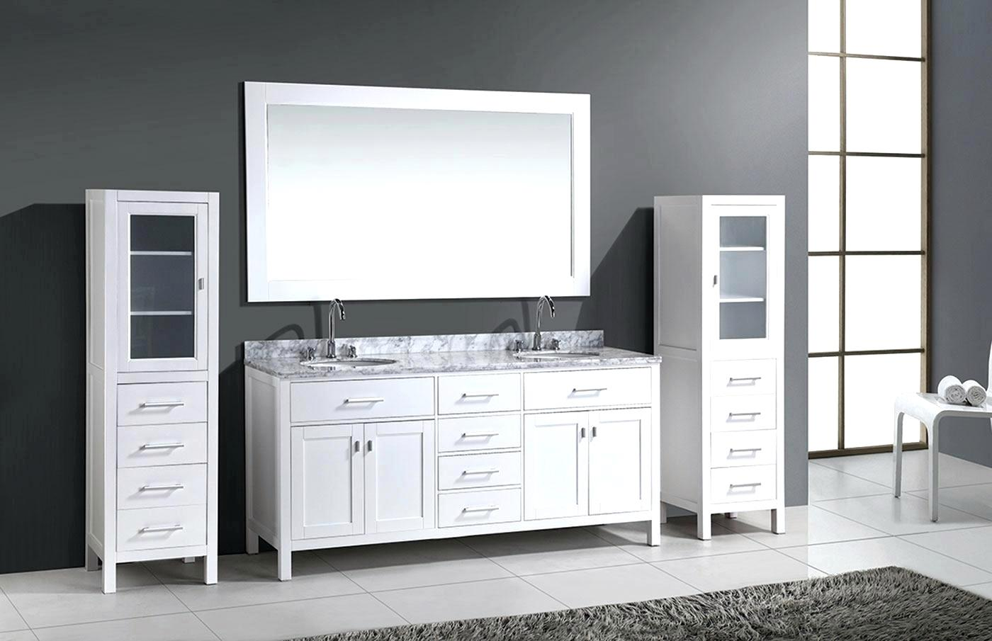 Image of: White Bathroom Vanity Accessories