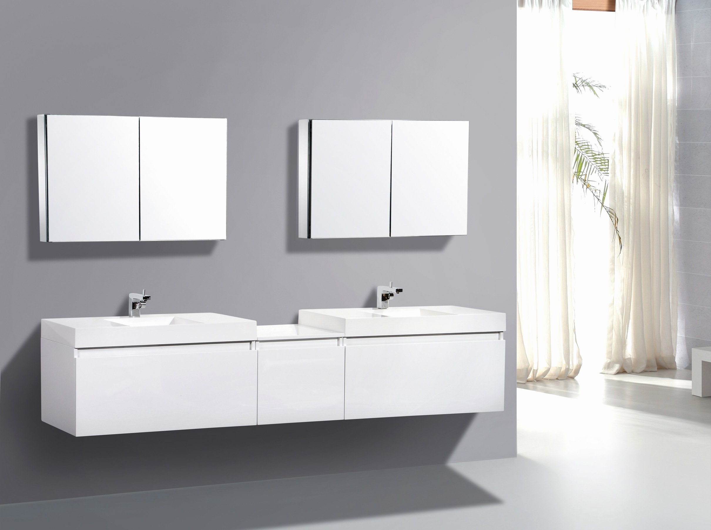 Image of: 24 in bathroom vanity with sink Luxury Modern White Bathroom Vanities 24 White Modern Bathroom Vanity W