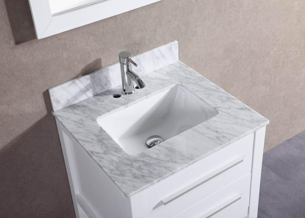 Image of: White Bathroom Vanity Mirror