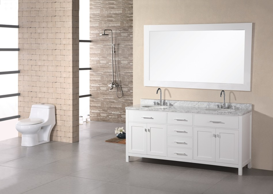 Image of: White Bathroom Vanity Top
