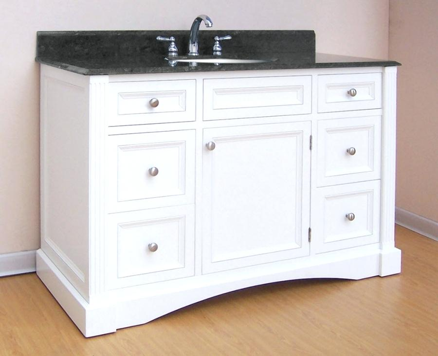 Image of: White Bathroom Vanity with Vessel Sink