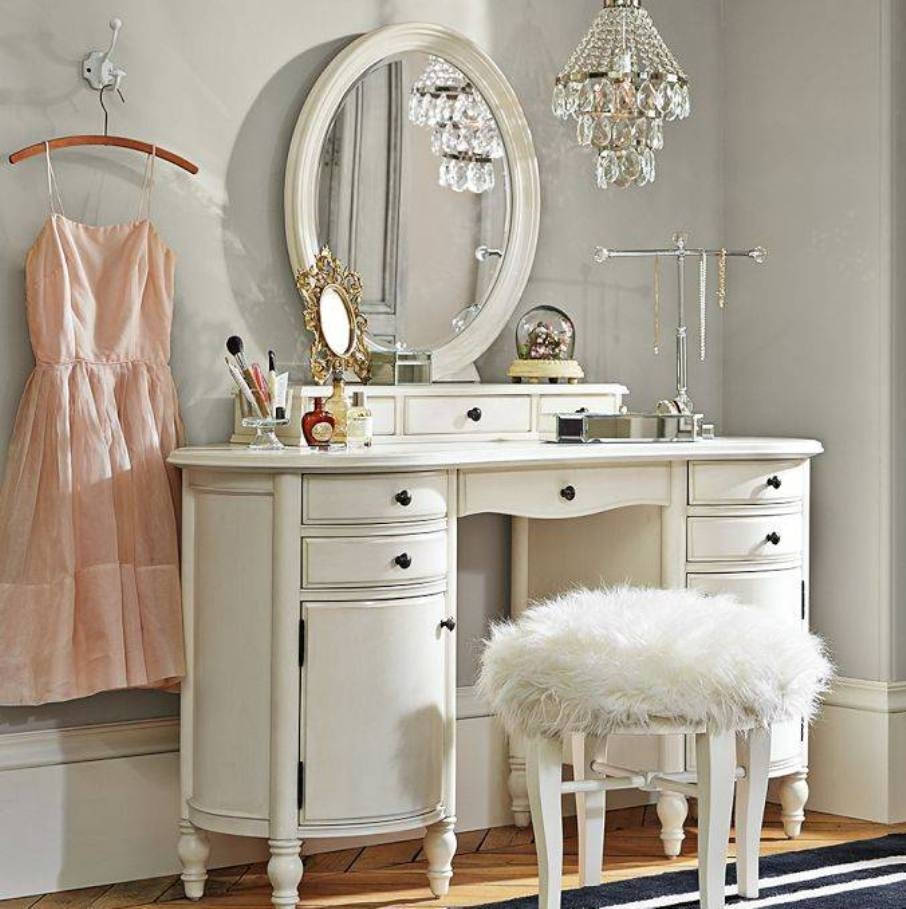 Picture of: White Bedroom Vanity Mirror