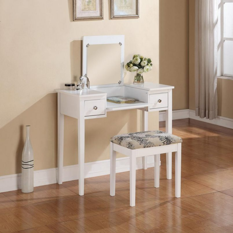 White Bedroom Vanity Set Small