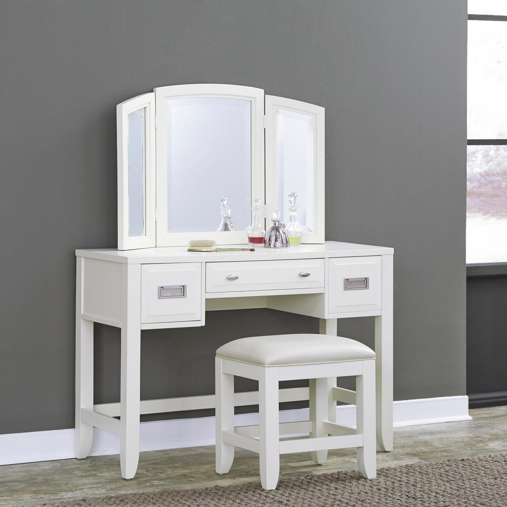 Picture of: White Bedroom Vanity Set