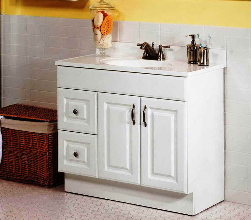 Image of: White Ikea Double Vanity