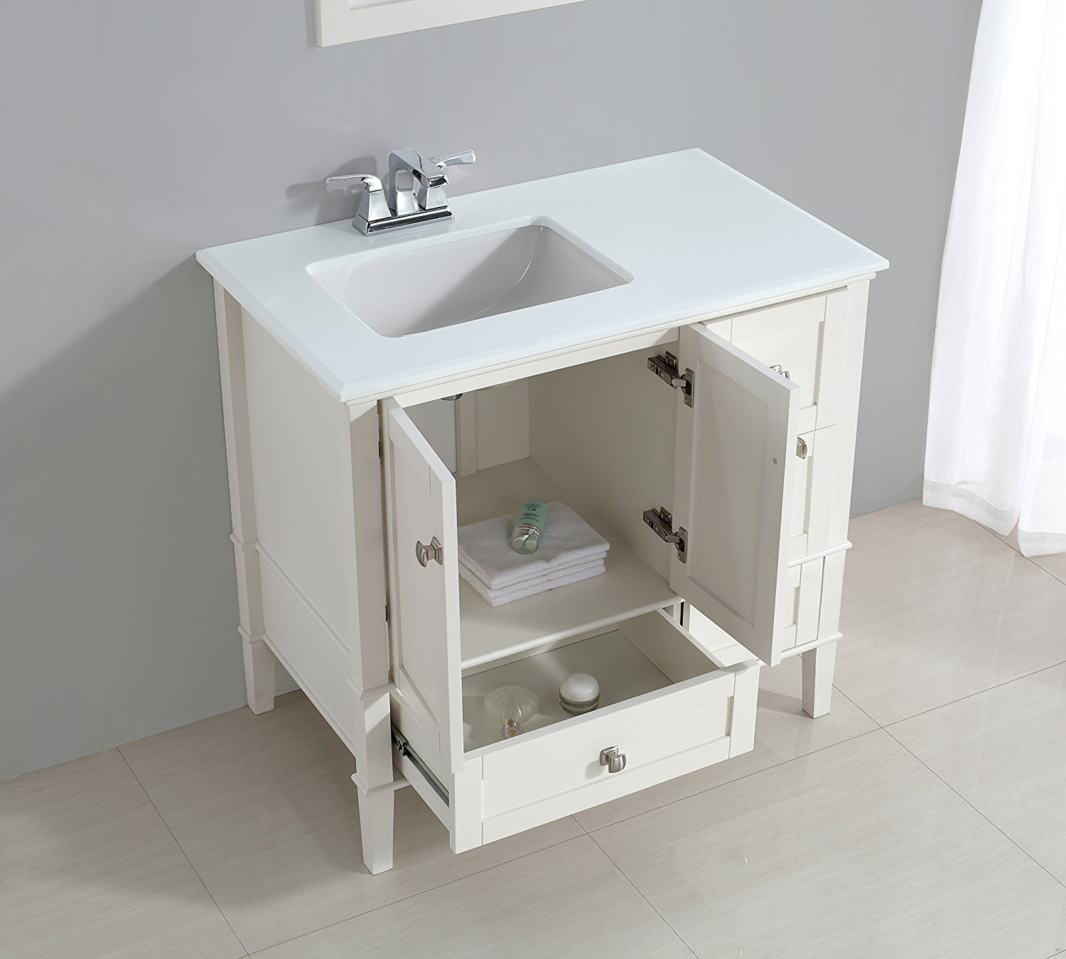 Image of: White Small Double Vanity