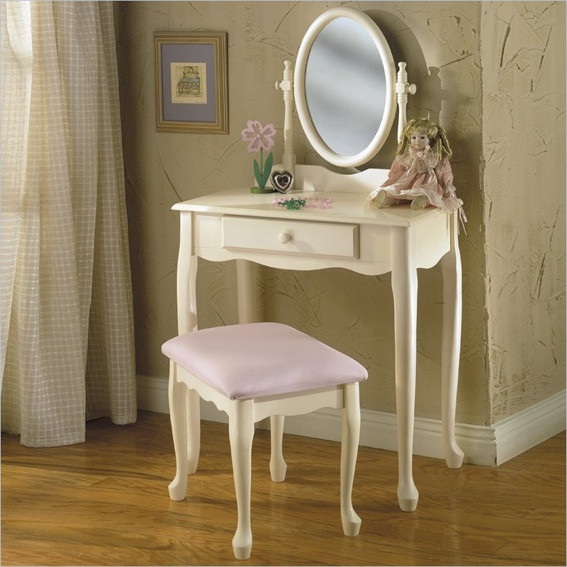 Image of: White Vanity Mirror Small