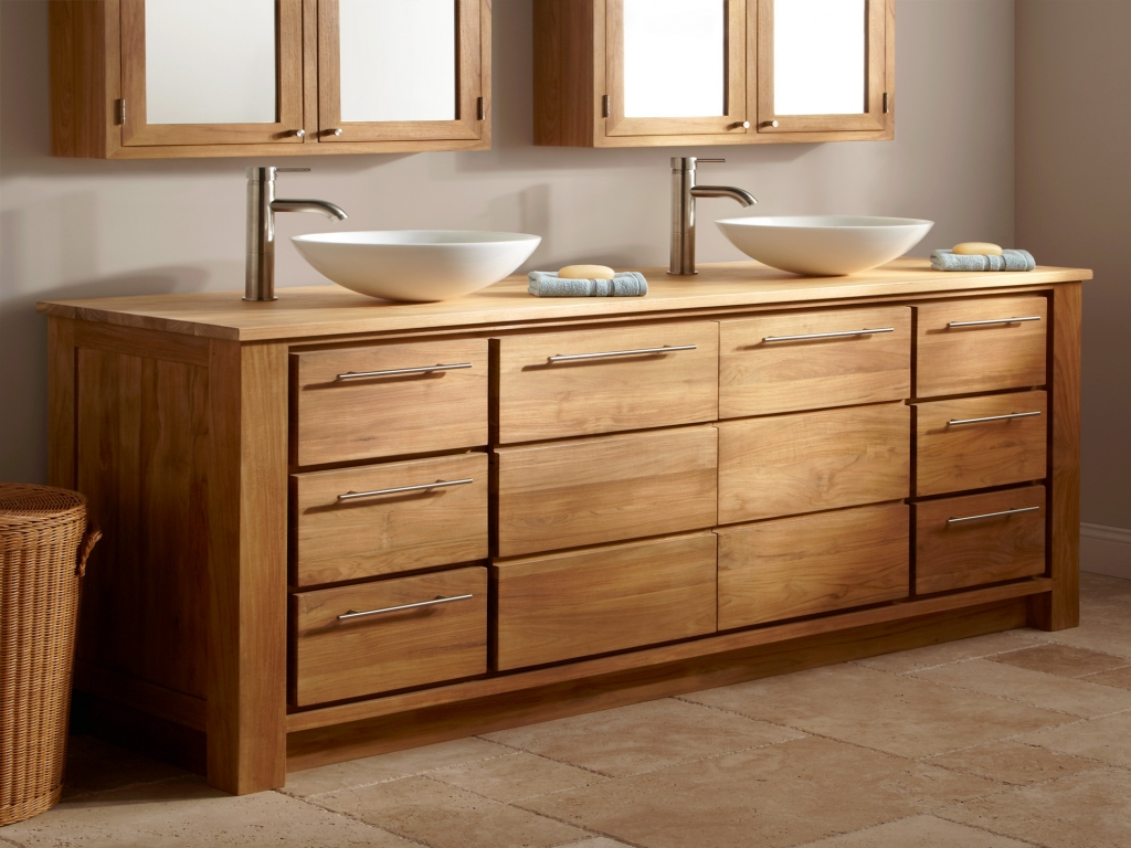 Image of: Wide Ikea Double Vanity