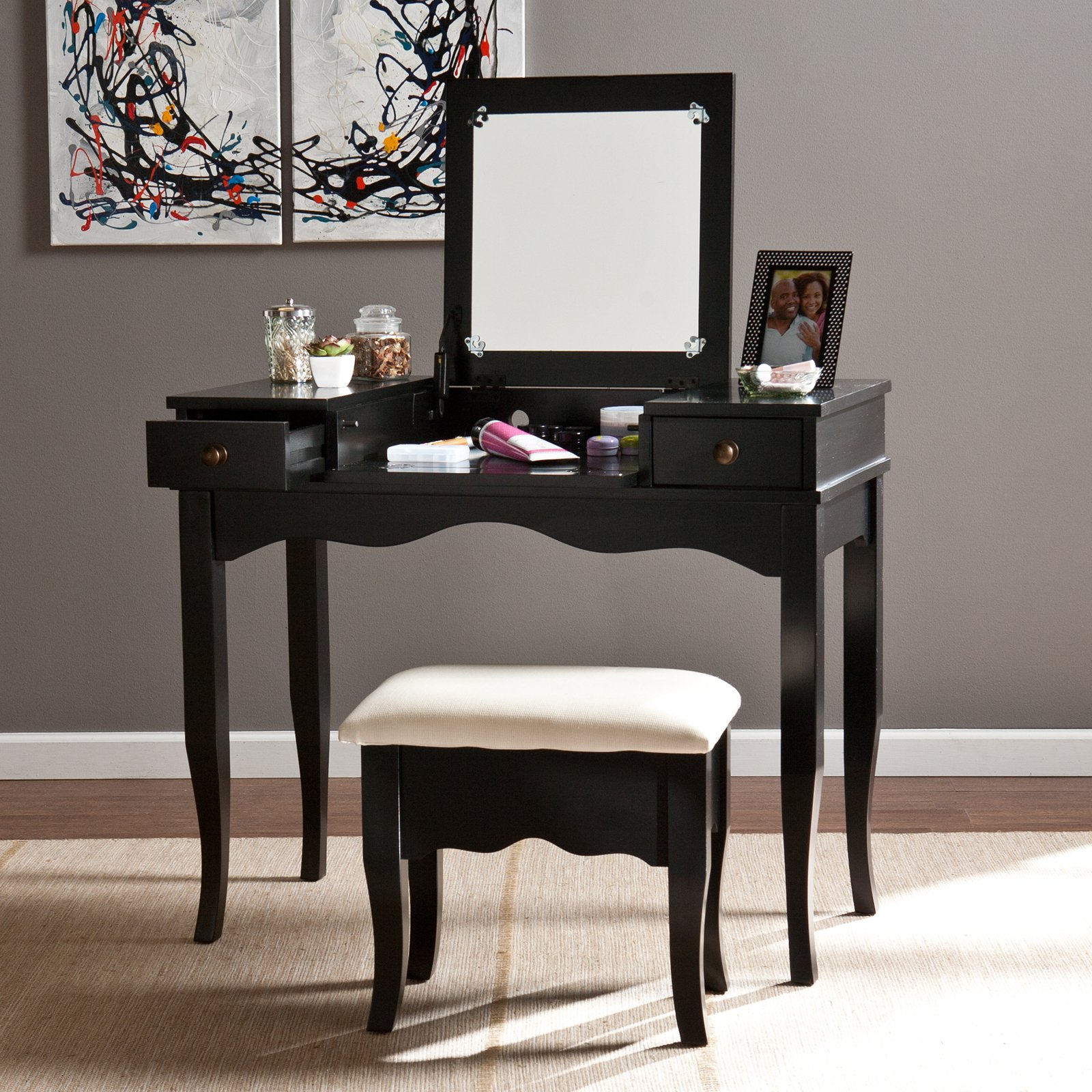 Wonderful Black Vanity Mirror