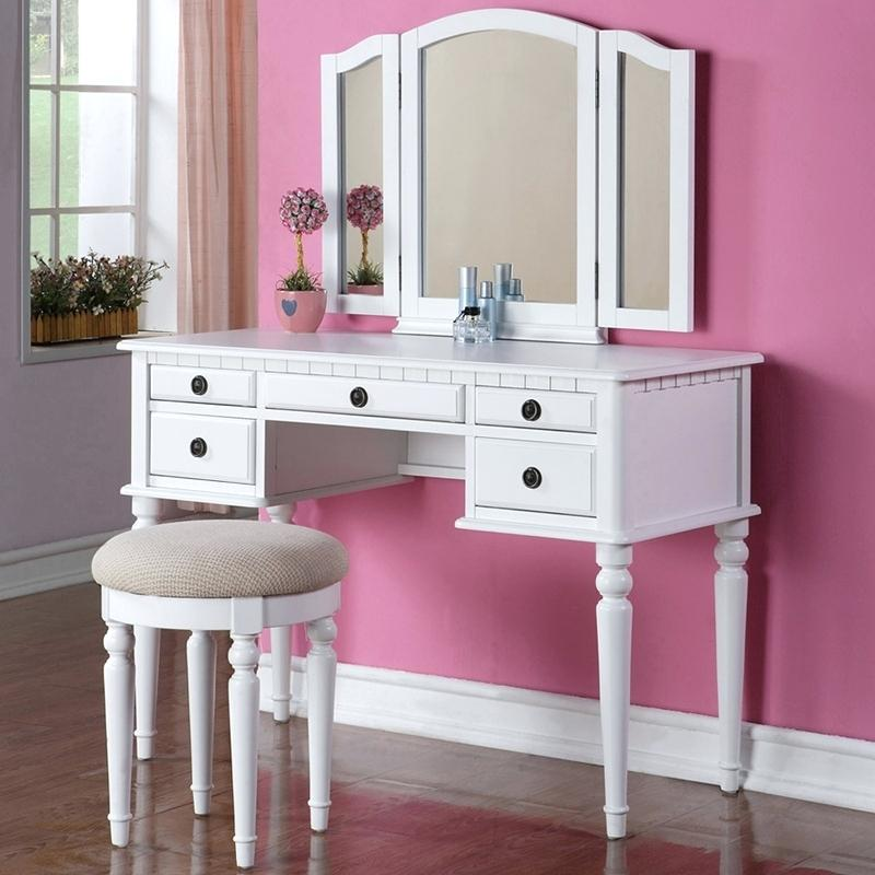 Picture of: Wonderful Vanity Desk with Mirror