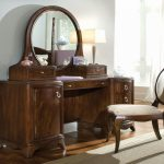 Wooden Vanity Set With Lights