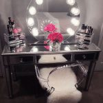 with Light Mirrored Vanity Table