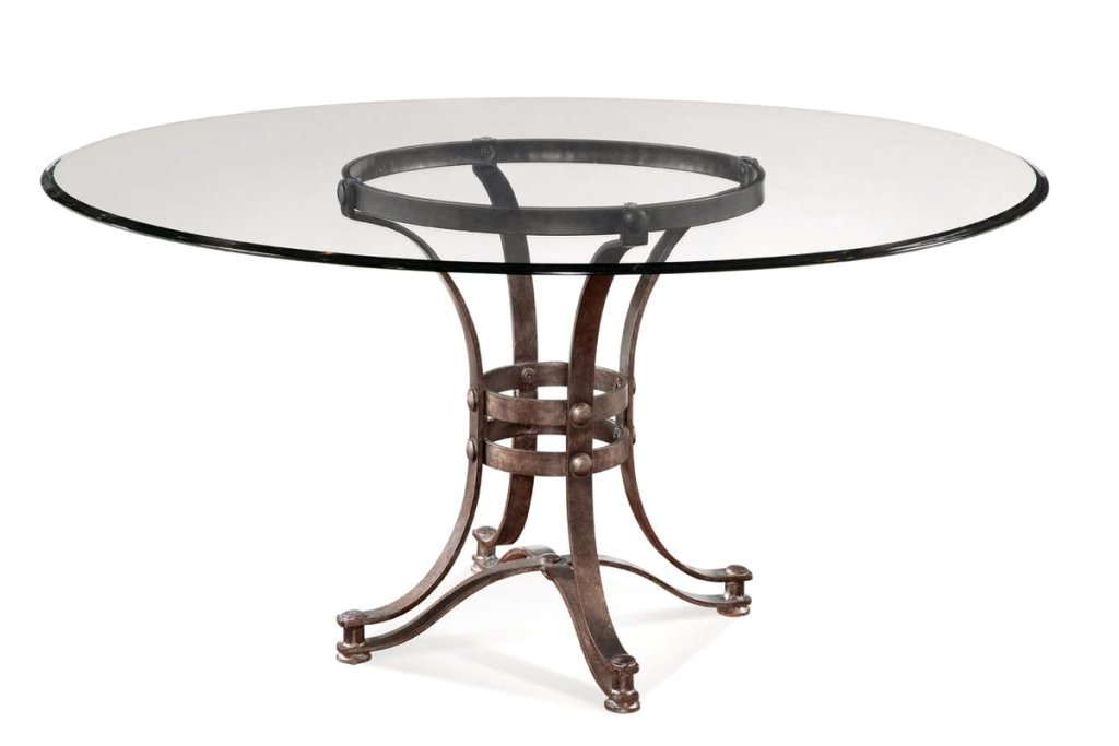 Image of: 60 Inch Round Dining Table Glass